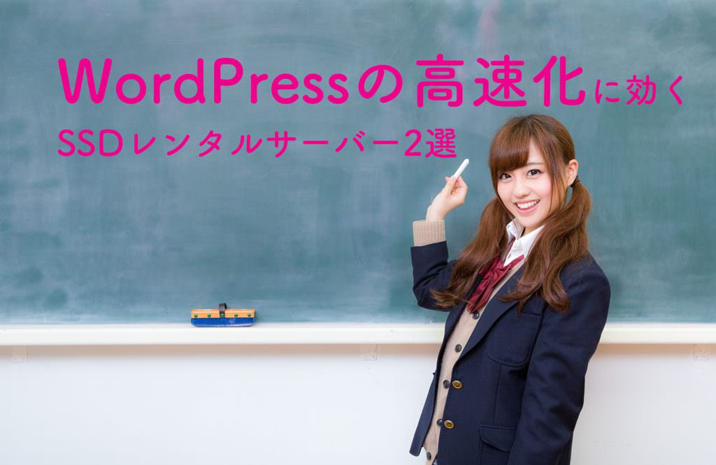 WordPressの高速化に効くSSDレンタルサーバー2選